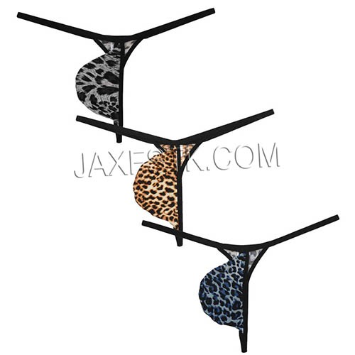 Leopard Pouch Underwear For Men Sexy Thongs Bikini G-strings Fashion Underpants Male T-back Elastic Men Shorts