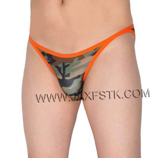 Men's Camouflage Briefs Underwear Male String Crotch Bikini Briefs