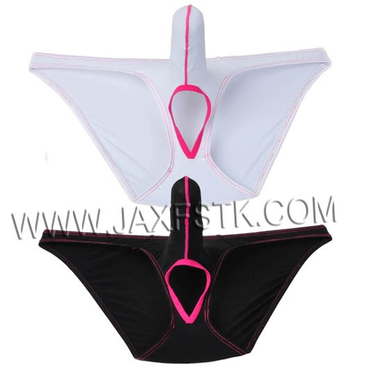 Men Ultra-thin Soft Briefs Underwear Sheer Mesh Smooth Ice Silk Birefs Long Pouch With Balls Hole Bikinis Birefs
