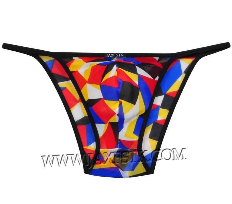 Men's Sheer String Bikini Briefs Underwear Elastic Soft Thong Brief Skimpy Pants