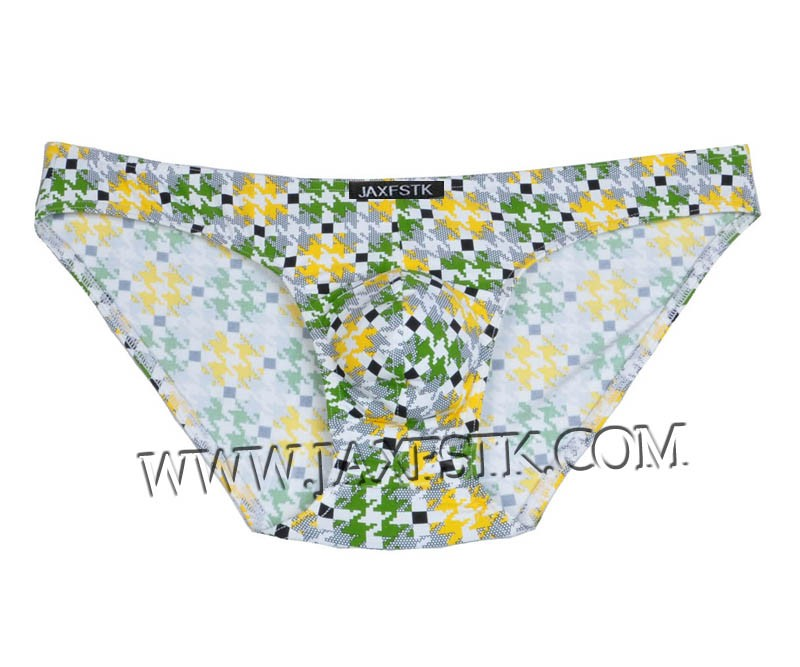 New Men Pouch Briefs Over Hips Back Comfy Printed Spandex Underwear MU204