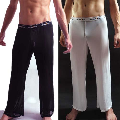 Sexy Men's Wide leg causal long trousers pants MU237