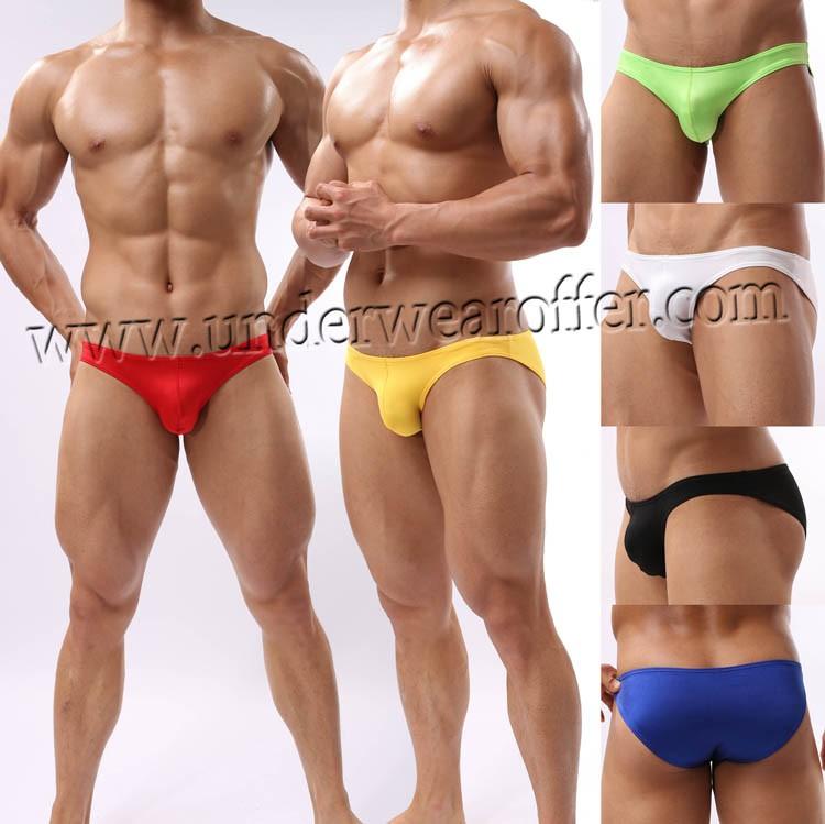 Men Briefs Underwear Comfy Enhance Bulge Pouch Bikini  Briefs MU40X