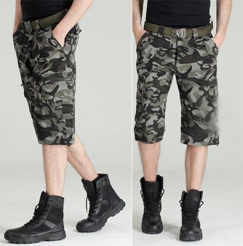 Men's Military BDU Pants Army Cargo Fatigue Camouflage Camo Shorts 8 Size MU571