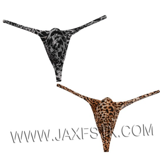 Sexy Men's Underwear Thongs & G-Strings Leopard Design Fashion Style Male Thong Underwear Men Bikini Tanga