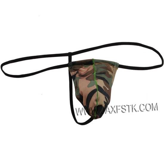 Men Camouflage G-Strings   Thongs Gay Men Underwear Nylon Thong Mens Tangas dbc106cca