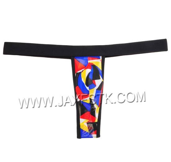 Men s Belt Micro Thong Yarn Plaid T-Back Mini G-String Bulge Pouch Cylinder  Male T-Back Underwear Pants bc59cf432ef4
