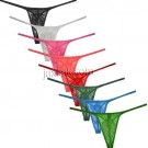Men's Tempting Jacquard Lace String Thong Gay Sexy Underwear Erotic Jock Strap Pouch T-back String Homme MU2252