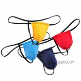 Men's Bulge Pouch G-String Bikinis Underwear T-Back Breathable Fabric Thong Briefs