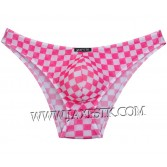 Colorful Checkered Men's Soft Pouch Bikini Briefs Underwear Mini Briefs Pants MU215