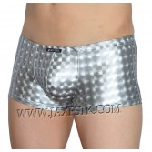 Cool Men's 3D Shiny Boxers Leather Like Pouch Trunks Soft Bottom Pants Underwear MU405S