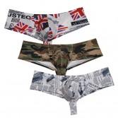 New Bulge Trunks Sexy Men's Posing Bikini Boxers Underwear Intense Power Micro Hip Briefs Print Bikini Boxer  TS734