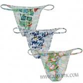 Male Briefs Men's Print Underwear Bulge Pouch Briefs Bikinis Mini Briefs
