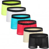 Stretchable Seamless Shorts Men's Ultra-Thin Boxer Brief Ice Silk Underwear Trunks BJ803