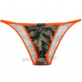 New Men's Camouflage Bikini Briefs Underwear Pouch Rope Side Open Trunks Brief
