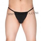 Sexy Men's Cotton Stretch Thong Underwear Soft Micro Cut G-String Hip Tangas