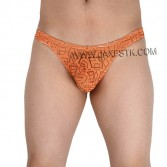 Men Thong Hollow Jacquard G-string Gay Pouch Underwear Mini Bikini T-back