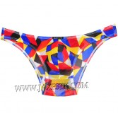 Men Stretch Bikini Briefs Colorful Underwear Bulge Pouch Micro Mesh Mini Briefs