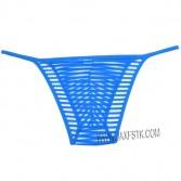 New Men's solid Bikini Border Mesh Striped Briefs Spun Yarn Bikini Briefs Underwear Pouch Open Side Man Underwear