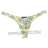 Sexy Men's Pouch Thong Printed Underwear T-back Bikini Spandex G-String MUS202