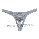 Novelty Men Pouch Thong Isolation Underwear Nuts Out String Spandex T-back Bikini Pants MUS203