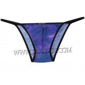 Sexy Men's Sheer Star Sky Mesh T-Back Underwear Belt Mini String Bikinis Thong MU221X