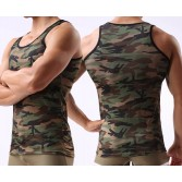 New Sexy Men's Camouflage Underwear Tank Top Singlet Undershirt Smooth Casual Vest Size M L XL MU341