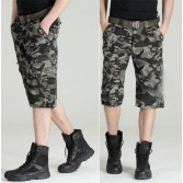Men's Military BDU Pants Army Cargo Fatigue Camouflage Camo Shorts 8 Size MU571