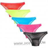 Men's See-through Striped Mesh Briefs Underwear Flat Front Underpants Spun Yarn Bikini Briefs