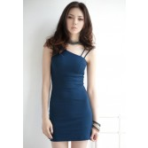 Women Sexy One Shoulder Bottoming Package Hip Tight Slim Dress WD03