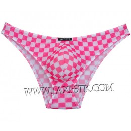 Colorful Checkered Men's Soft Pouch Bikini Briefs Underwear Mini Briefs Pants MU215