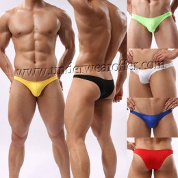 Sexy Men Mini Briefs Underwear Comfy Enhance Bulge Pouch Bikini Thong Briefs MU41X