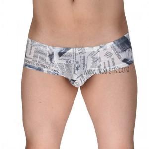 Sexy Men Pants Bikini Mini Boxers Men's Super Soft & Smooth The Newspaper Printed Underwear