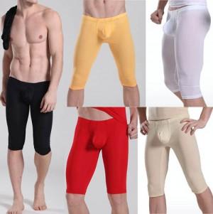 Super Smooth Men's Bulge Pouch Shorts U-brief Design Underwear Thin Shorts Half Pants M L XL