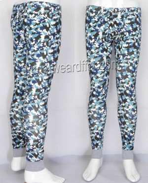 Men Cotton Camouflage Thermal Underpants Underwears Trouser Long John Warm Pants MU209X